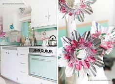The Fancy Farmgirl Tiffany Kirchner Dixon -Christmas vintage travel trailer glamping pink aqua silver