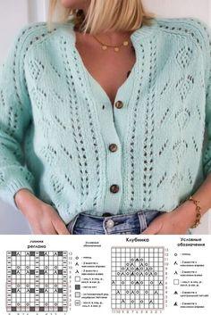 Lace Knitting Patterns, Crochet Cardigan Pattern, Crochet Jacket, Knit Jacket, Knitting Stitches, Knit Crochet, Knit World, Norwegian Knitting, Creative Knitting