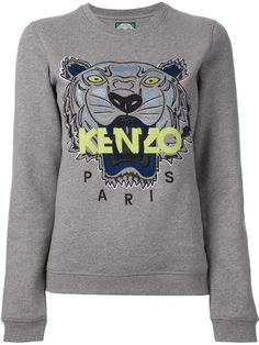 71affa07aa6b Shop Kenzo jungle logo sweatshirt in Smets from the world s best  independent boutiques at farfetch.