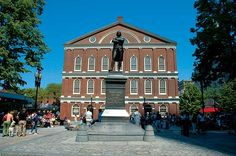 Faneuil Hall. Statue is of John Adams
