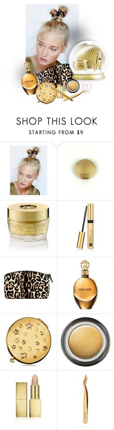 """""""#PolyPresents: Sparkly Beauty"""" by ysmn-pan ❤ liked on Polyvore featuring beauty, Free People, Oribe, Estée Lauder, Victoria's Secret, Roberto Cavalli, Giorgio Armani, AERIN, tarte and Urban Decay"""