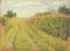 "Ayer Farm, Kentucky, 5""x 7"" plein air oil sketch by Cecile W. Morgan"
