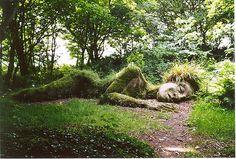 Mud Maid - Grass Sculpture, Lost Gardens of Heligan, Cornwall