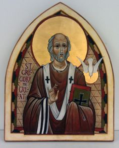 St. Gregory the Great, icon by David Clayton