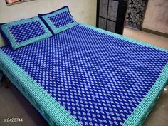 Bedsheets Comfortable Cotton Double Printed Bedsheet Fabric: Bedsheet - Cotton Pillow Covers - Cotton Dimension: ( L X W ) - Bedsheet - 100 in X 90 in Pillow Cover - 17 in X 27 in Description: It Has 1 Piece Of Double Bedsheet & 2 Piece Of Pillow Cover Work: Printed Thread Count: 144 Country of Origin: India Sizes Available: Free Size   Catalog Rating: ★4 (582)  Catalog Name: Pastel Comfortable Cotton Double Printed Bedsheets Vol 17 CatalogID_325186 C53-SC1101 Code: 473-2426744-558