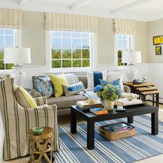 Living Room - Mastering the Art of a Small Space - Coastal Living