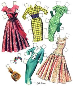 Gale Storm paper doll clothes