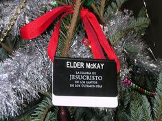 Missionary tag Christmas tree ornament | Mormon Life Hacker