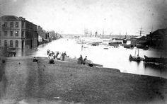 The Flinders St floods in Melbourne in 1863.