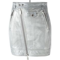 Dsquared2 metallic skirt (97.910 RUB) ❤ liked on Polyvore featuring skirts, bottoms, metallic, zip front pencil skirt, high-waist skirt, metallic high waisted skirt, short skirts and high waist knee length pencil skirt