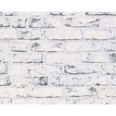 Grey Brick White Washed Wallpaper. Would be great for a feature wall in the lounge, kitchen or entrance.