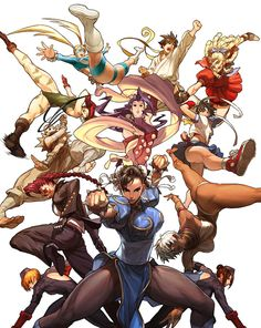 the girls of street fighter