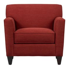 """Hennessy Chair: Tomato - $699 34"""" x 34"""" x 33"""" - nice shape, nice lines, well sized."""