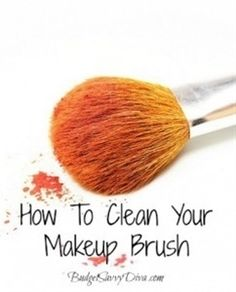How To Clean Your Makeup Brush - Click image to find more makeup posts