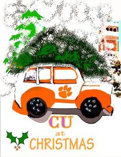 CU at Christmas Greeting Clemson Christmas Card by SonnyBuds Clemson Football, Clemson Tigers, Christmas Greetings, Christmas Time, Christmas Cards, Football Spirit, Spirit Signs, Graphic Design Programs