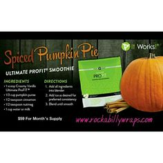 """Pumpkin Spiced Protein Shake? I SAY YES!!!!!  Ultimate ProFIT™ Whether your goal is weight loss, athletic performance, or a simple way to eat healthy, Ultimate ProFIT Superfood Nutrition Mix offers a superior blend of proteins, mood-elevating """"superfoods,"""" and fiber that is proven to produce ultimate results*. Use it in shakes or smoothies, bake with it, or even mix it with your food! . Try it in rich chocolate or creamy vanilla today, and start seeing results like these: •Experience…"""