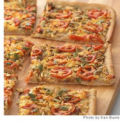 Caramelized Onion & White Bean Flatbread; this will have you re-thinking your pizza toppings!