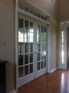 home office french doors near entry