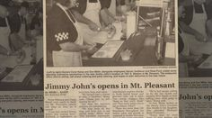 Jimmy opens his 100th store in Mt. Pleasant, MI in February, 2001.