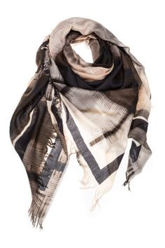 Check Beige 150 x 150 Womens Scarves, Ready To Wear, Beige, How To Wear, Shopping, Collection, Check, Fashion, Taupe