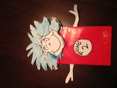 Thing 1 Paperbag Hand Puppet
