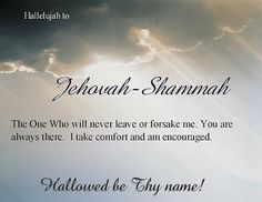 All the Names of Jehovah | PRAY THE NAMES OF GOD