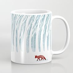 Winter Storm Coffee Mug by littleclyde | Society6