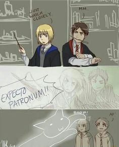 Armin looks so cool in the second panel and in the third he's just back to his adorable self.