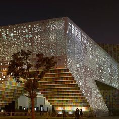 """""""Colorful Life,"""" Republic of Korea Pavilion at Shanghai Expo 2010..... Form makes up 20 letters in the Korean alphabet, and the interior structure reflect's """"culture,"""" """"technology,"""" """"humanity"""" and """"nature"""" - So astounded"""
