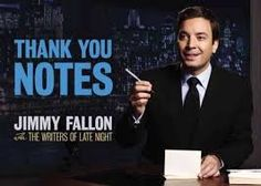 Thank you Jimmy Fallon for being so thankfully hilarious!
