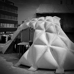 Fabric cast concrete pavilion, IAAC