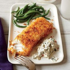 Crispy Fish with Lemon-Dill Sauce | CookingLight.com