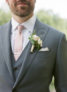 Custom Designed 3 piece suit for the Groom by Enzo Custom. 3 piece Grey suit for wedding. Grey Suit and Blush tie for Groom. Blush Boutonnière on a Gray Suit. Grey Tuxedo Wedding, Black Suit Wedding, Grey Wedding Suits For Men, Man Suit Wedding, Charcoal Suit Wedding, Wedding Kurta For Men, Wedding Men, Wedding Attire, Dream Wedding