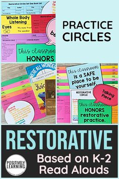 Have you been thinking about introducing restorative practice in your classroom? This packet offers background knowledge, helpful tips, and 20 read aloud lessons to get started with restorative circles. Co Teaching, Teaching Reading, Teaching Ideas, Learning Resources, Restorative Circles, Interactive Read Aloud, Inclusion Classroom, Restorative Justice, Read Aloud Books