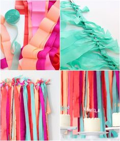 How to: Layered Party Streamer Background DIY Streamer Backdrop Party Kulissen, Festa Party, Party Time, Party Ideas, Streamer Backdrop, Party Streamers, First Birthday Parties, Birthday Party Themes, Birthday Diy