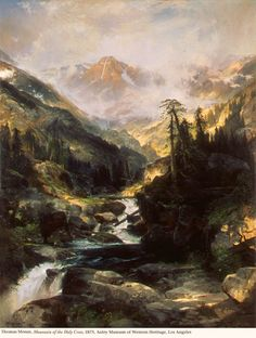 Thomas Moran Mountain of the Holy Cross painting is shipped worldwide,including stretched canvas and framed art.This Thomas Moran Mountain of the Holy Cross painting is available at custom size. Thomas Moran, Art Thomas, Landscape Art, Landscape Paintings, Impressionist Paintings, Landscape Photography, Hudson River School, Holy Cross, Oil Painting Reproductions