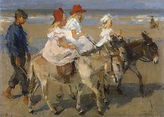 Israels, Isaac -- Ezeltje rijden langs het strand, 1890-1901. Рейксмузеум: часть 4
