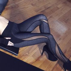 Michi Medusa Legging (Black denim)
