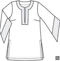 Modelo de túnica para copiar y patrón gratis