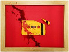 """Toujours dans la série recyclage et détournement, """"Cassette Portraits"""" est une série de créations de l'artiste anglais Beloit Jammes qui détourne des vieilles cassettes audio en portraits et références à des affiches de films célèbres"""