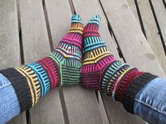 Happy go Scrappy sock pattern by Anita Grahn English by AnitaYarn