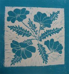 botanical prints to carve and print