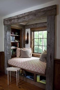Cute little get away area. This would be beautiful overlooking pretty greenery.