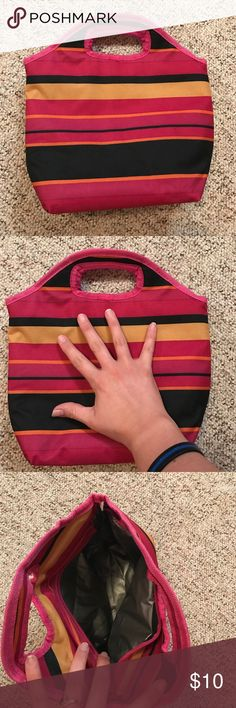 Small lunch bag Small striped lunch bag. Never used, no tags Bags Backpacks