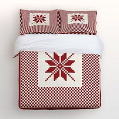 camping theme sheets - Libaoge 4 Piece Bed Sheets Set, Christmas Theme Red Black Buffalo Check Pattern, 1 Flat Sheet 1 Duvet Cover and 2 Pillow Cases * You can find out more details at the link of the image. (This is an affiliate link) #CampingIdeas