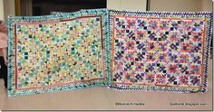 A Pair of Lazy Sunday quilts!  So different and from the same pattern!  Lazy Sunday ran as a 4 part Mystery in Quiltmaker Magazine through 2013 and will be included in my next book due out VERY SOON!