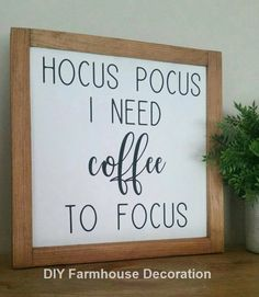 Hocus Pocus I Need Coffee To Focus,Hocus Pocus Sign,Coffee Bar Sign,Halloween Si. - Home Decor Diy Home Decor Rustic, Home Decor Signs, Fall Home Decor, Autumn Home, Luxe Decor, Autumn Fall, Cute Dorm Rooms, Cool Rooms, Dorm Room Signs