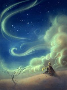 """""""It is such a mysterious place, the land of tears."""" The Little Prince by Fabera  (Digital Art, Facebook)"""