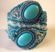 BEADED EMBROIDERY BRACELETS | EMBROIDERY DESIGNS