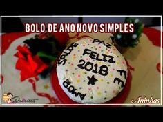 Bolo de Ano Novo Simples - muito saboroso, leve e fresco... Receita completa: https://receitascomsabor.pt/?p=4159  Vídeo passo a passo: https://youtu.be/jICYTT75mk8  #receitas #culinária #bolos #doces